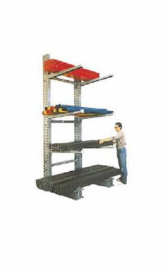 Meco Cantilever Rack Single Sided Heavy Duty Uprights