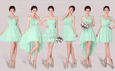 mismatch bridesmaid dress Green bridesmaid dresses by okbridal, $99.99