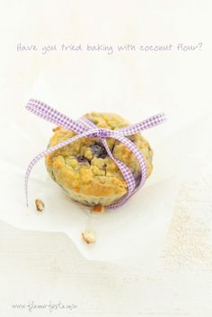 Baking with coconut flour by Flavour Fiesta Gluten free  Grain free blueberry muffin