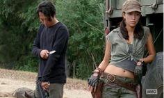 Yet another gratuitous shot of Rosita (Christian Serratos) in Season 4, Episode 11 of AMC's The Walking Dead.
