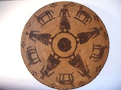 Antique Pima (O'Odham) Native American Indian Basket 1890's/1910's