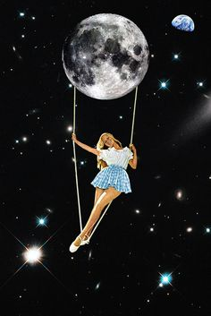 Illustration art Glitter space collage Eugenia Loli