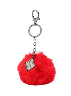DC Comics Harley Quinn Puff Ball Key ChainDC Comics Harley Quinn Puff Ball Key Chain,