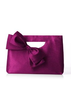 Dupioni Clutch with Interchangeable Bow by Dessy Collection