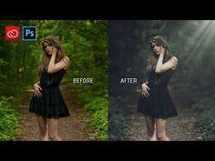 Photoshop Tutorial : Fantasy Look Color Tone - YouTube