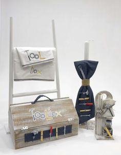 Βαπτιστικό πακέτο για αγόρια με ξύλινο κουτί εργαλειοθήκη, annassecret, Χειροποιητες μπομπονιερες γαμου, Χειροποιητες μπομπονιερες βαπτισης