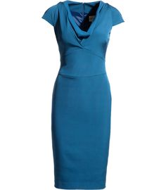 Carlie Cowl Neck Fitted Shift by reissonline #Dress #reissonline