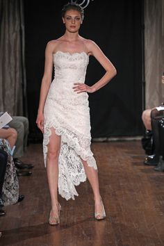 Non-traditional, lace gown - Sarah Jassir Runway Show, Spring 2013 (photo by Dan Lecca)