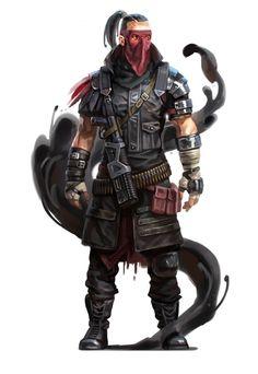 Warlock cyberpunk / shadowrun в 2019 г. Fantasy Male, Fantasy Rpg, Fantasy Artwork, Character Concept, Character Art, Character Ideas, Cyberpunk Rpg, Black Company, Post Apocalyptic Art