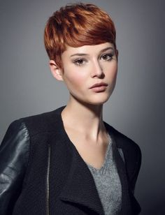 Omg I love this! She's unbelievably gorgeous in that cut and color!!