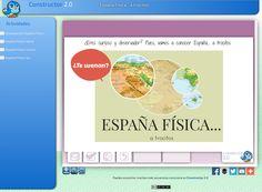 Secuencia de actividades interactivas para trabajar la Geografía Física de España. Elaborada con la herramienta Constructor 2.0.  http//constructor.educarex.es