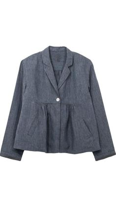 """</p> <p class=""""p1"""">Pied Poule Linen bolero in two shades of blue .</p> <p class=""""p1"""">Small collar and gathered panels.</p> <p class=""""p1"""">Embroidered geometric trims on top of bolero joints.</p> <p class=""""p1"""">Unlined with French seam tapes in a color contrast .</p> <p class=""""p1"""">Two front pockets</p> <p class=""""p1"""">Fastened with a Mother of pearl button</p> <p class=""""p1"""">90% Linen   10% Silk</p> <p style=""""line-height: 15.8079996109009px;"""">"""