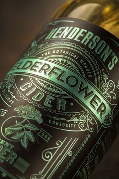 The Henderson's Cider range needed a new identity and packaging that reflected the award winning artisan cider itself. The product's previous labels lacked . Honey Packaging, Craft Packaging, Coffee Packaging, Bottle Packaging, Bottle Labels, Foil Packaging, Chocolate Packaging, Design Packaging, Product Packaging