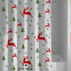 Kate Spade Christmas Custom Shower Curtain