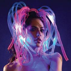 Purple Flashing Rave Headband