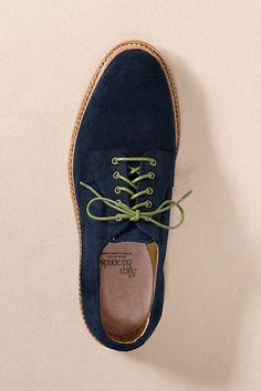 Men's Allen Edmonds Stewart Plaintoe Oxford Shoes from Lands' End Canvas