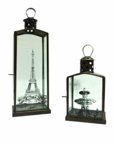 Two'S Company Paris Candleholders, Set of 2 by Two's Company. $92.46. Lantern styled candle holders. Accented with images from paris. Beautiful addition to any decor. Two's company set of 2 Paris candleholders includes 2 designs.. Save 16%!