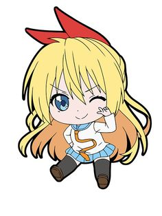 Chitoge Chibi by Chibify - Nisekoi Relife Anime, Anime Japan, Anime Demon, Anime Chibi, Nisekoi Wallpaper, Kawaii Wallpaper, Sad Anime Girl, Kawaii Anime Girl, Kawaii Chibi