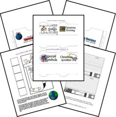 Here is a FREE Christmas Around the World lapbook. It includesGeneral Lapbook Componentsand aFile Folder Review Game. The Countries included in this f