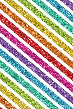 Striped glitter rainbow wallpaper