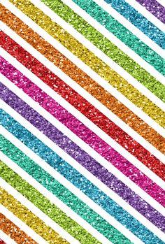Striped glitter rainbow wallpaper
