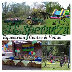 Esperanza Equestrian Centre & Venue is an exclusive party place with a farm atmosphere and a barn style venue. Loads of activities available such as army parties on their obstacle course, horse parties by learning the ropes, large open field for playing soccer while their play area consists of jungle gym, trampoline and hop scotch.