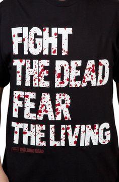 Fear The Living Walking Dead Shirt: The Walking Dead Mens T-shirt