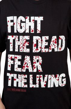 Fear The Living Walking Dead Shirt: The Walking Dead Mens T-shirt