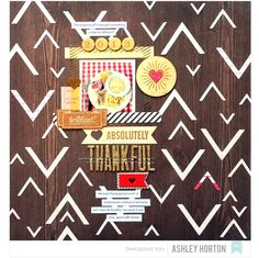 Absolutely Thankful - Scrapbook.com - Fabulous combination of mini photo, journaling strips, embellishments and more.