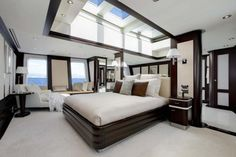 Yes, this is the master bedroom on a yacht!