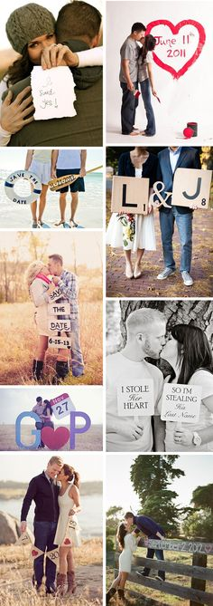 Fun & sweet inspiration for your engagement or announcement shoot!