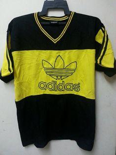 SALE Vintage 1990s Adidas Trefoil Logo Style Hip by SuzzaneVintage