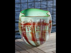 Chihuly | Mint Green Soft Cylinder with Cherry Lip Wrap
