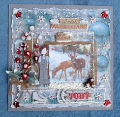 """ Winter Wonderland ~ Let It Snow "" -kaisercraft paper- Scrapbook.com"