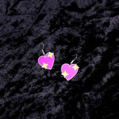 Emoji Heart Charm Earrings - Witch - Goth - Nu Goth - Witch Worldwide
