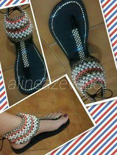 Arte em sandálias
