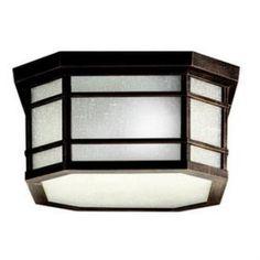 Kichler Lighting 9811PR Cameron - Three Light Outdoor Flush Mount
