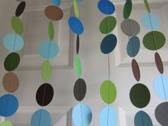 Paper Garland Baby Boy Shower Decorations by SuzyIsAnArtist, $22.00