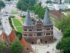 Holstentor, Hanseatic City of Lübeck, Schleswig-Holstein.