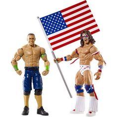 WWE John Cena and Ultimate Warrior Action Figure Battle Pack, Multicolor