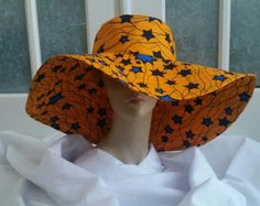 Items similar to Extra large yellow sun hat, African print, Ankara, Wax, Cotton on Etsy African Hats, African Fashion Ankara, Latest African Fashion Dresses, African Inspired Fashion, African Print Dresses, African Print Fashion, African Attire, African Wear, African Women