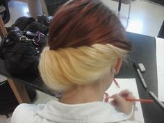 two colored hair!