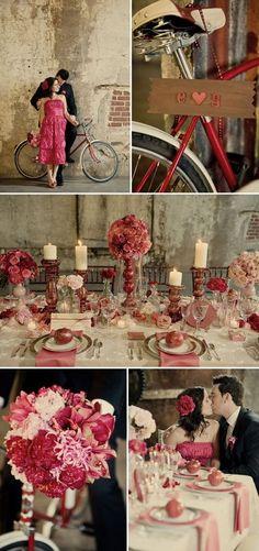 vintage fuchsia wedding