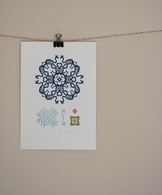 Blue Gerenuk - Original Gocco Print. $15.00, via Etsy.