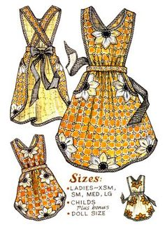 Bloomin' Apron Pattern-paisley pincushion, apron, aprons, patterns, pattern, grandma, grandma's, old-fashion, old fashioned