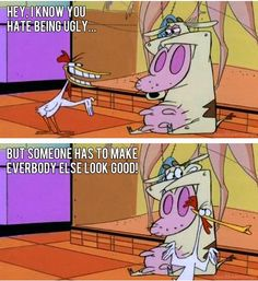 Ugly cow. Cow and Chicken
