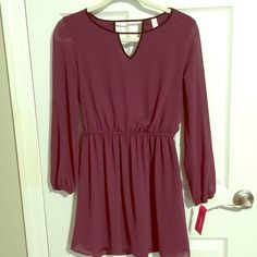 New! NEW WITH TAGS Xhilaration dress purchased at Target. Super cute! Sheer sleeves ✨ Xhilaration Dresses Long Sleeve