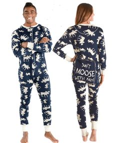 Adult Onesie Flapjack Classic Moose Blue by LazyOne Family Pjs, Family Christmas Pajamas, Christmas Time, Christmas Ideas, Christmas Decorations, Xmas, Matching Couple Outfits, Matching Pajamas, Best Pjs