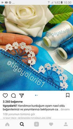 Crochet Edging Patterns, Crochet Borders, Embroidery Stitches, Embroidery Patterns, Hand Embroidery, Crochet Flowers, Crochet Lace, Needle Lace, Fabric Art