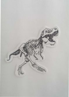 T-Rex Skeleton Embroidery Patch by LittleBearsPatches | $8.51